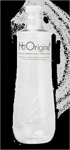 Bouteilles en p.e.t. alimentaire H2Origine pour l'eau plate