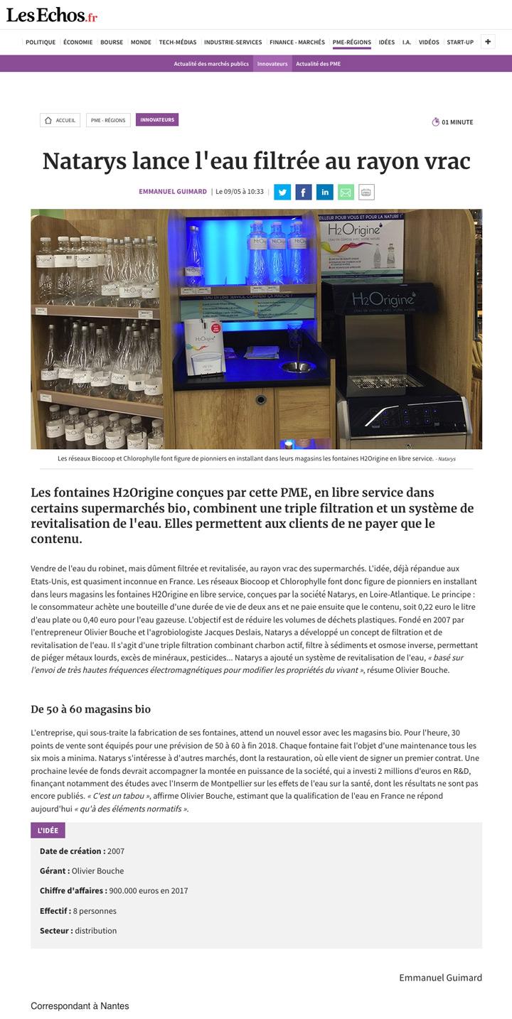 Les Echos.fr 2018 05 09