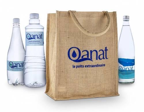 Sac Cabas Eau Qanat et bouteilles